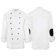 Куртка поварская 46 разм., полиэстер,хлопок, белый,черный