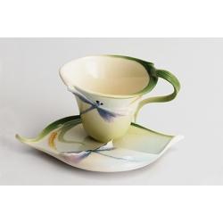 Чашка с блюдцем «Стрекоза» чашка - 100мл