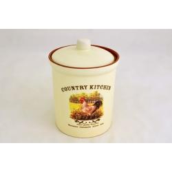 Маленькая банка для сыпучих продуктов «Деревенское утро» 14 см