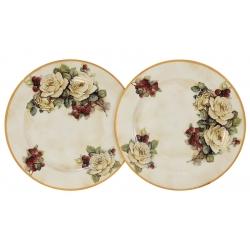Набор из 2-х десертных тарелок Роза и малина