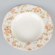 Набор 6 суповых тарелок 23см. «Садовая Роза»