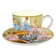 Чашка с блюдцем Балерины у зеркала в подарочной упаковке