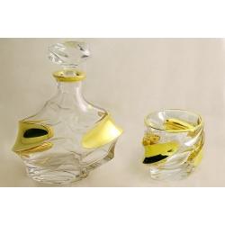 Набор для виски: штоф + 6 хрустальных бокалов «Александр»