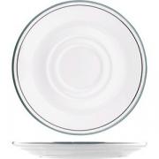 Блюдце «Лагуна» D=15см; белый, зелен.