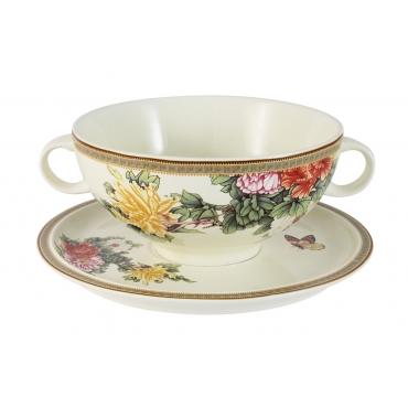 Суповая чашка на блюдце «Японский сад»