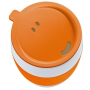 Кружка с крышкой «АРОМА ТУ ГОУ» (AROMA TO GO) Koziol 400 мл. ø9см (0,4л.) (оранжевый)