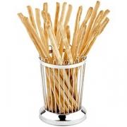 Корзина-подставка для хлебных палочек, сталь нерж., D=95,H=135мм