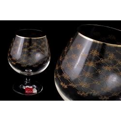 Набор бокалов для коньяка «Золотая сетка» (6 шт - 400 мл)