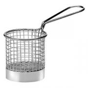 Корзинка для картошки фри; сталь нерж.; D=8,H=8см