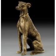 Собака пойнтер каштан 12х6 см