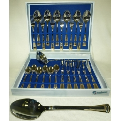 Набор столовых приборов из 25 предметов на 6 персон с золотом «Эра»