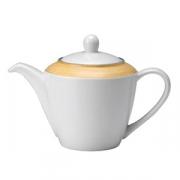 Чайник «Рио Еллоу»; фарфор; 310мл; белый,желт.