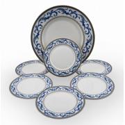 Набор тарелок для десерта «Наоми» на 6 персон 7 предметов
