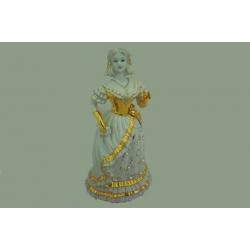 Статуэтка «Девушка « 31 см (белая с золотом)