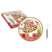 Набор для пиццы: тарелка + нож Подарки