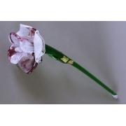 Цветок стеклянный разноцв. (фиол + бел)