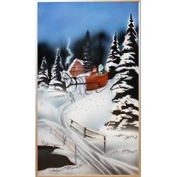Зимняя прогулка.Размер картины:30х50