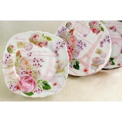 Набор и 4-х тарелок «Цветущий Париж» 20 см