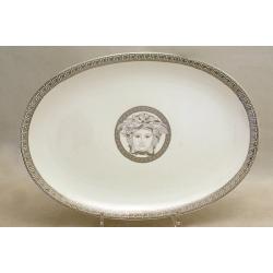 Блюдо овальное 34 см «Versace - platinum»