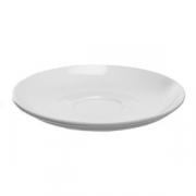 Блюдце «Перла», фарфор, D=12см, белый