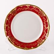 Набор тарелок 17 см. 6 шт «Ювел красный»