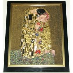 Картина «Поцелуй», серия Klimt,фарфор 45х37 см. Подарочная упаковка