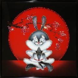 Японский кролик.Размер картины:30х30