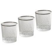 Набор: 6 хрустальных стаканов для виски Умбрия Матовая - платина