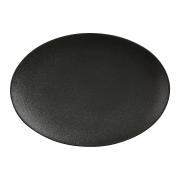 Тарелка овальная (чёрная) Икра без инд.упаковки