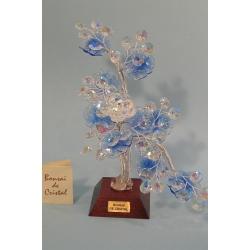 Бонсай с хризантемой синий 24см