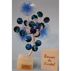 Бонсай с хризантемой синий 16 см