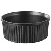 Форма для запек.; фарфор; 1.65л; D=200,H=84мм; черный
