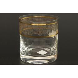 Стакан для виски 280 мл Гольф декор панто+втертое золото