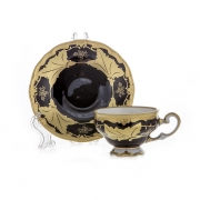 Набор кофейный мокко 100 мл на 6 перс. 12 пред. подарочный «Кленовый лист синий»
