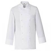 Куртка поварская,р.44 без пуклей, полиэстер,хлопок, белый
