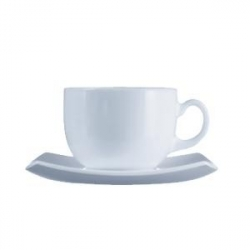 Набор чайн.пар «Квадрато» белый 160мл 6шт