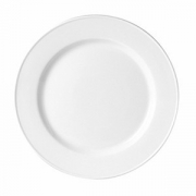Тарелка мелкая «Каберне», фарфор, D=27,H=2см, белый,бордо