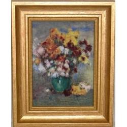 Картина «Хризантемы» 16,5х21см, фарфор, серия Renoir.Подарочная упаковка