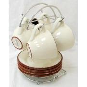 Чайный набор на металлической подставке «Кухня в стиле Кантри»