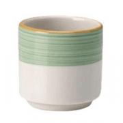 Подставка для яйца «Рио Грин», фарфор, белый,зелен.