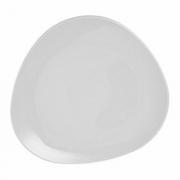 Тарелка треугольная «Трилоджи», фарфор, L=21/21см, белый