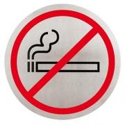 Табличка «Не курить»; сталь нерж.; D=16см