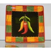 Блюдо квадратное 32см «Красный перец»