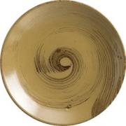 Тарелка пирожковая коричнево-оливковый D=15.5см