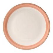 Блюдо для пиццы «Рио Пинк», фарфор, D=31см, белый,розов.