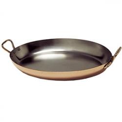 Сковорода овал. L=30см 2ручки медь/нерж.