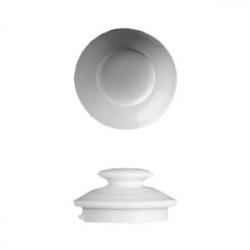 Крышка для кофейника «Прага», фарфор, 1.2л, D=9,H=5см, белый