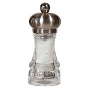 Мельница для соли, акрил,сталь нерж., D=45,H=110мм, прозр.,металлич.
