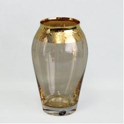 Ваза 21,5 см; панто золото «Nefertiti»; светлый амбер