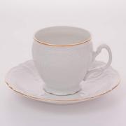Набор для чая 160 мл. выс. н/н «Бернадот белый 311011» на 6 перс. 12 пред.